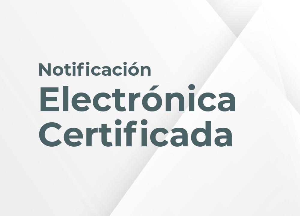 Notificación electrónica certificada